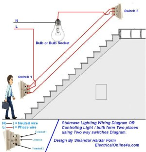 How To Control A Lamp  Light Bulb From Two Places Using