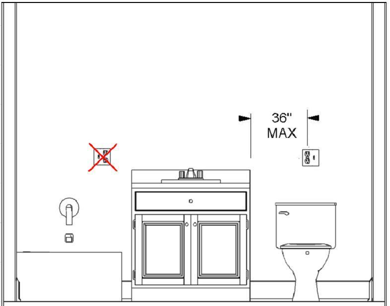 Installez gfci outlet bathroom