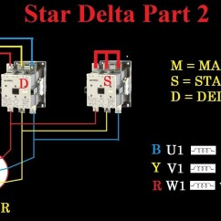 Single Phase Reversing Contactor Wiring Diagram Truck Lite 97300 Star(y) Delta(Δ) Starter - Motor Control With Circuit Engineering Feed