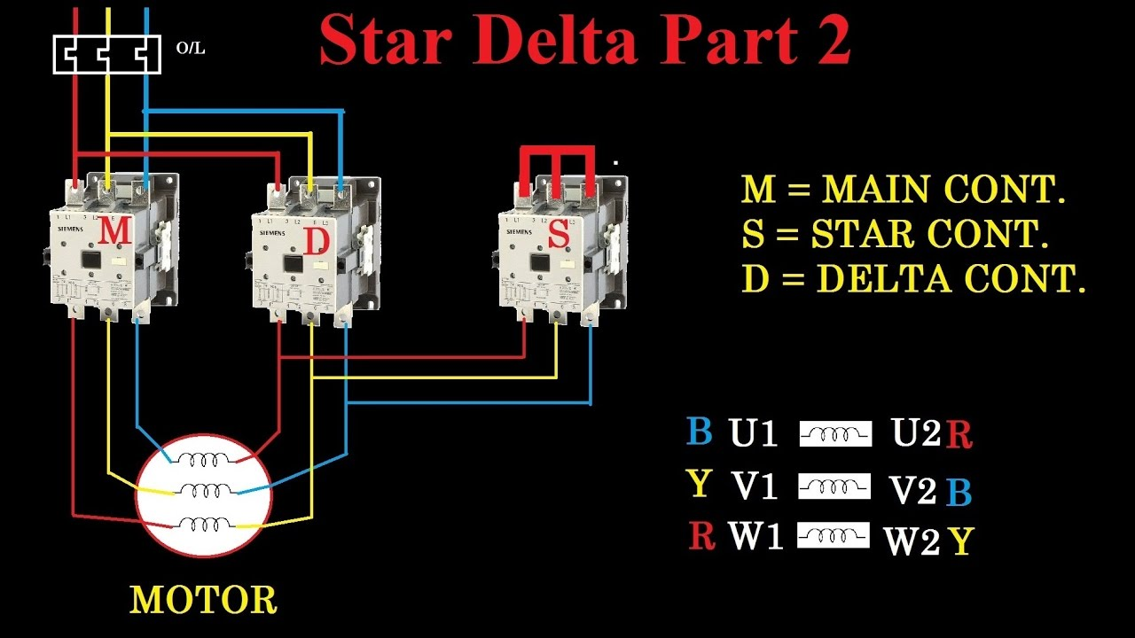 single phase reversing contactor wiring diagram 79 kz1000 star(y) delta(Δ) starter - motor control with circuit engineering feed