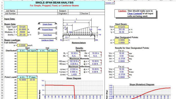 Download Single and ContinuousSpan Beam Analysis