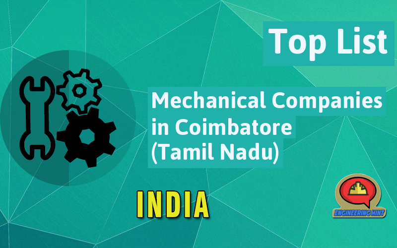 List of Mechanical Companies in Coimbatore (Tamil Nadu ...