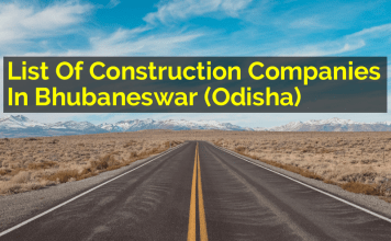 List Of Construction Companies In Bhubaneswar (Odisha)