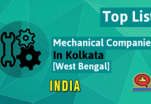 List Of Mechanical Engineering Companies In Kolkata [West Bengal, India]