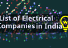 Top List Of Electrical Companies In India