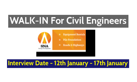 Naveen Merico Engineering Co Pvt Ltd WALK-IN For Civil Engineers - Interview Date - 12th January - 17th January