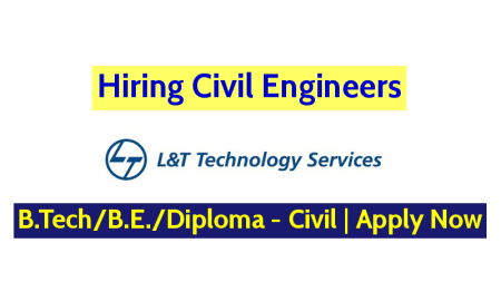 L&T Technology Services Hiring Civil Engineers B.TechB.E.Diploma - Civil Apply Now