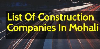 List Of Construction Companies In Mohali