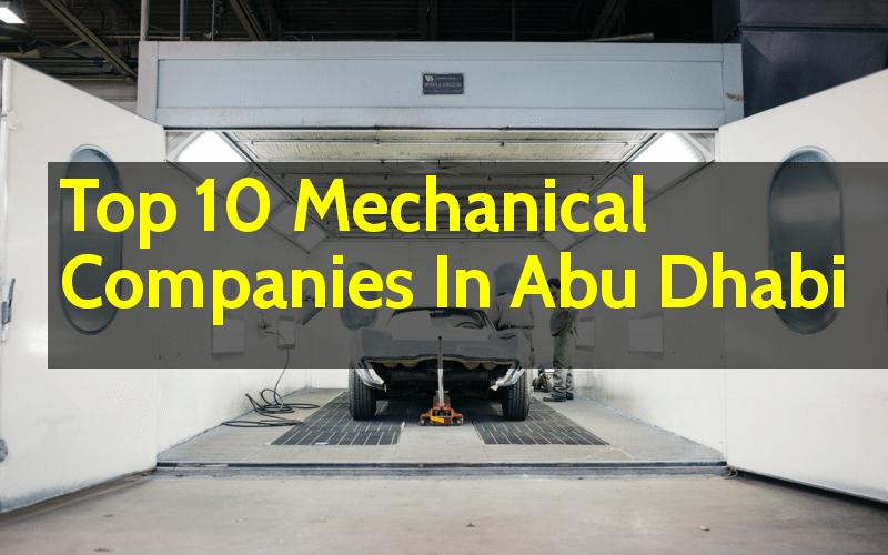List Of Top 10 Mechanical Companies In Abu Dhabi (UAE) - Engineering