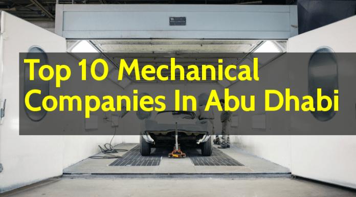 List Of Top 10 Mechanical Companies In Abu Dhabi (UAE)