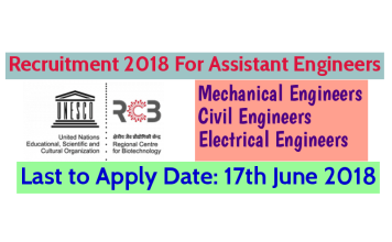 RCB Recruitment 2018 For Assistant Engineers (Mechanical, Civil & Electrical) – Last Date 17-06-2018