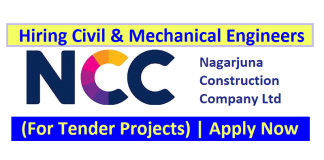 Nagarjuna Construction Company Ltd Hiring Civil & Mechanical Engineers (For Tender Projects)