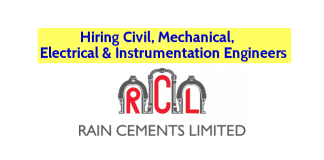 Rain Cements Limited Hiring Civil, Mechanical, Electrical & Instrumentation Engineers