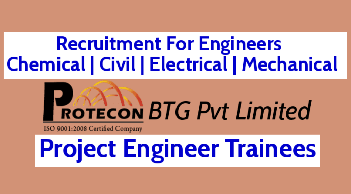 Recruitment For Engineers - Chemical Civil Electrical Mechanical 0 - 5 yrs Project Engineer Trainees