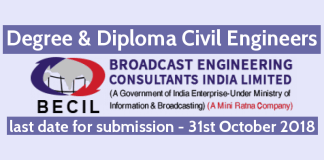 BECIL Recruitment - Degree & Diploma Civil Engineers Are Invited To Apply For This Recruitment