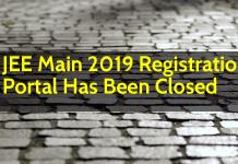 JEE Main 2019 Registration Portal has been closed