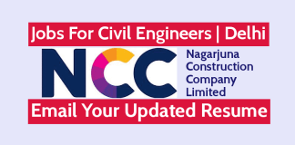 Jobs For Civil Engineers Delhi NCC Limited Email Your Updated Resume