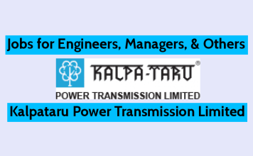 Jobs for Engineers, Managers, & Others Kalpataru (KPTL) Apply Now