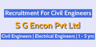 S G Encon Pvt Ltd Jobs For Engineers Civil Engineers Electrical Engineers 1 - 5 yrs