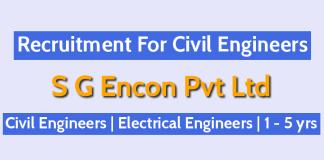 S G Encon Pvt Ltd Jobs For Engineers Civil Engineers Electrical Engineers 1 - 5 yrs