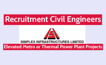 Simplex Infrastructures Ltd Hiring Civil Engineers Elevated Metro or Thermal Power Plant Projects