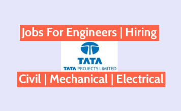 Tata Projects Limited Jobs For Engineers - Civil Mechanical Electrical