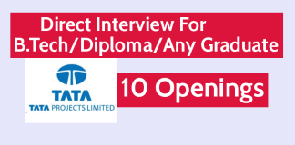 Tata Projects Ltd Direct Interview