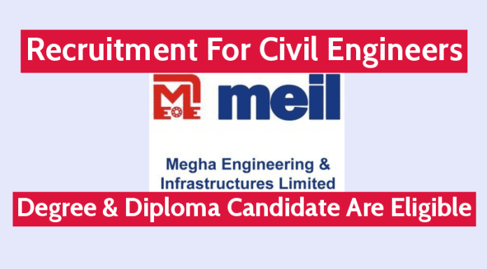 MEIL Recruitment For Civil Engineers Degree & Diploma Candidate Are Eligible Apply Now
