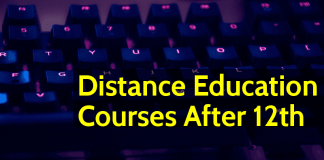 Distance Education Courses After 12th