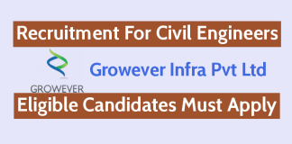 Growever Infra Pvt Ltd Recruitment For Civil Engineers Check It Now