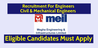 MEIL Recruitment For Engineers Civil & Mechanical Engineers Eligible Candidates Must Apply
