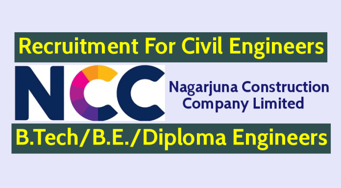 NCC Recruitment For Civil Engineers All Eligible Candidates May Apply Now
