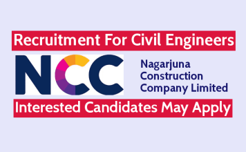 NCC Limited Recruitment For Civil Engineers Interested Candidates May Apply