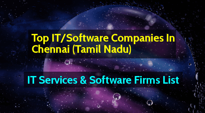 Top ITSoftware Companies In Chennai (Tamil Nadu)