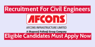 Afcons Infrastructure Ltd Recruitment For Civil Engineers Eligible Candidates Must Apply Now