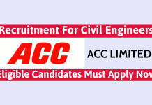 ACC Ltd Recruitment For Civil Engineers Eligible Candidates Must Apply Now