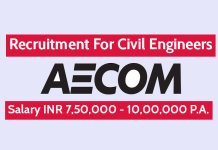 AECOM India Pvt Ltd Recruitment For Civil Engineers