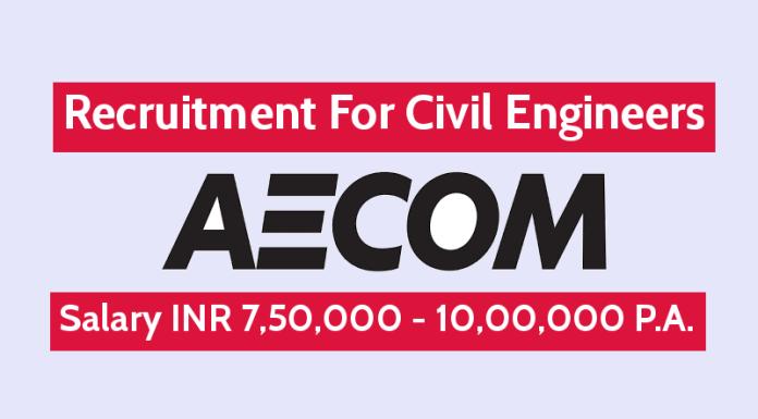 AECOM India Pvt Ltd Recruitment For Civil Engineers