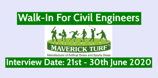 Maverick Turf Corporation LLP Walk-In For Civil Engineers Interview Date 21st - 30th June 2020