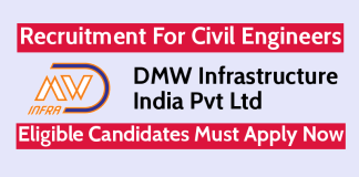 DMW Infrastructure Recruitment For Civil Engineers Eligible Candidates Must Apply Now