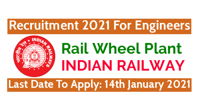 Rail Wheel Plant Recruitment 2021 For Engineers Last Date To Apply 14th January 2021