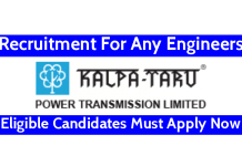 Kalpataru Limited Recruitment For Any Engineers Eligible Candidates Must Apply Now