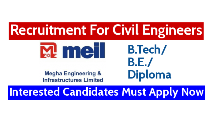 MEIL Recruitment For Civil Engineers Interested Candidates Must Apply Now