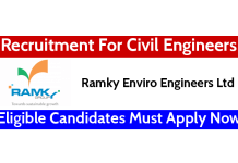 Ramky Enviro Engineers Ltd Recruitment For Civil Engineers Eligible Candidates Must Apply Now