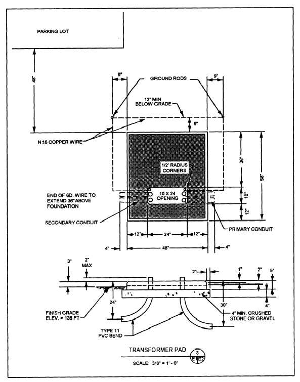 Figure 2-18.Transformer pad details for use with the site