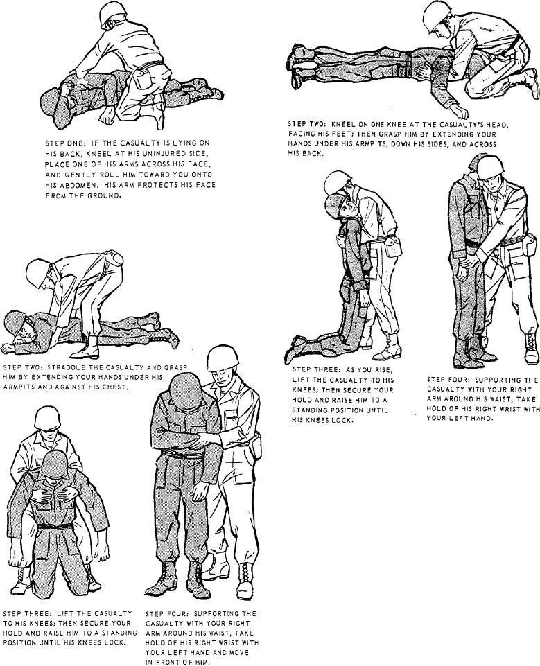 Figure 10-18.--Fireman's carry (step one).