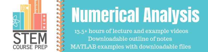Numerical Methods - Bisection Method MATLAB Example