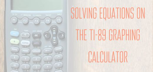 solving equations on the ti89