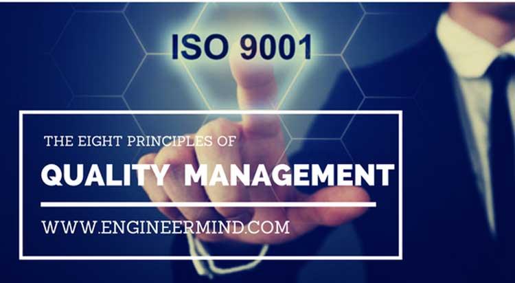 ثمانية مبادئ في نظام ادارة الجودة تدعمها منظمة المعايير الدولية ايزو 9000