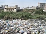 Wading through raw sewage and waste...